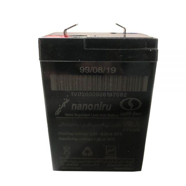 باتری سیلد اسید 6 ولت 4.5 آمپر صبا باتری